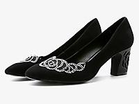 Gastone-lucioli歌斯�|尼�|空��@粗跟通勤高跟鞋