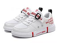 BKG2019春季新款�W面透�饧t色童鞋板鞋