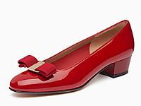 菲拉格慕经典款女士多色牛漆皮蝴蝶结单鞋