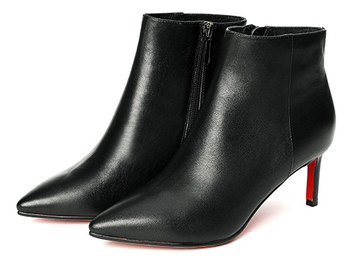 自由姿色高跟靴子女細跟性感2019秋冬新款