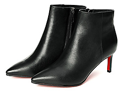 自由姿色高跟靴子女细跟性感2019秋冬新款