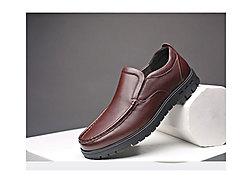 雅浪健康鞋男鞋商务休闲牛皮鞋