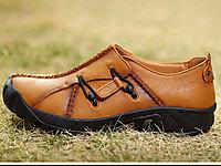 吉普盾男鞋休闲皮鞋头层真皮男士户外