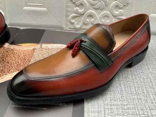 意大利肯迪凯尼头层牛皮商务正装鞋