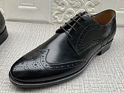 肯迪凯尼头层牛皮擦色商务鞋