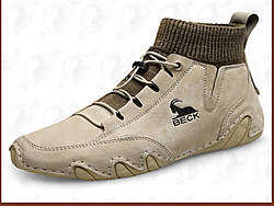 公羊男鞋2019新款冬季加绒保暖棉鞋男士休闲鞋