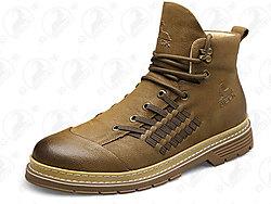 公羊马丁靴男高帮秋季靴子英伦风冬季男士皮靴