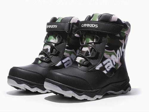 camkids垦牧女童靴男童棉靴2019冬季新款