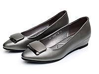 上�;ㄍ趼杪栊�真皮软底单鞋女鞋内增高