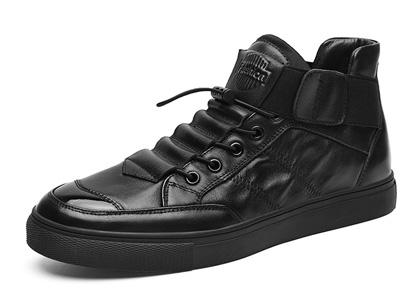 公牛世家男鞋冬季潮鞋中幫加絨棉鞋休閑板鞋