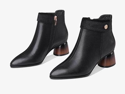 艾米奇2019秋冬季新款牛皮女靴