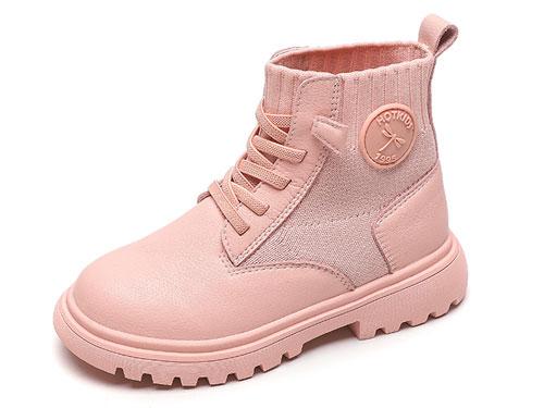 红蜻蜓童鞋2019冬季新款女童马丁靴