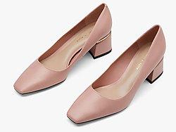 CHARLES&KEITH2019秋季新品方头高跟鞋