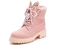 Kiss-Kitty2019冬季新款粉色厚底短靴