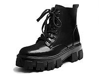 Kiss-Kitty2019冬季新款牛皮黑色短靴