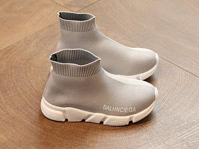小林川子童鞋高帮袜子鞋新款
