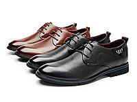 红火鸟Redess新款男士商务皮鞋系带单鞋