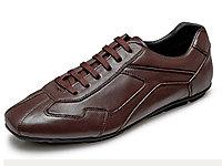 大洋洲袋鼠男士休�e皮鞋真皮�r尚青年板鞋