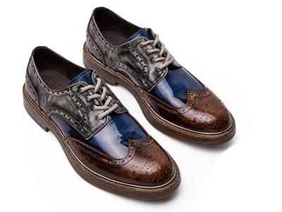爱得堡布洛克雕花皮鞋男英伦手工男鞋复古牛津鞋