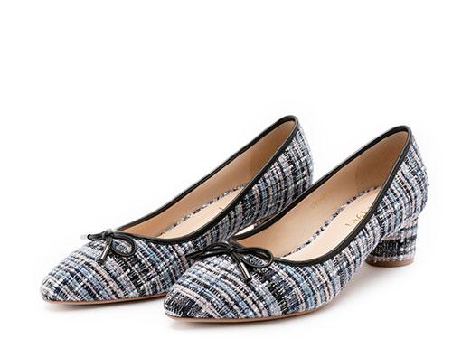 sense1991女鞋小香风鞋中跟单鞋