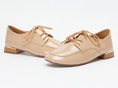 紅蜻蜓女鞋2020春新方頭小皮鞋女英倫