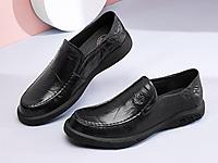 骆驼男鞋2020春季新款真皮时尚套脚商务鞋