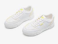 大东2020新款春季学院厚底板鞋平底小白鞋