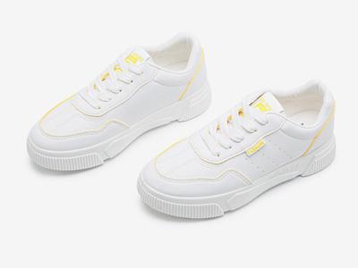 大東2020新款春季學院厚底板鞋平底小白鞋