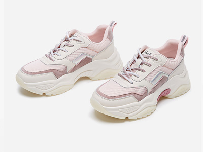 热风2020年春季新款女鞋松糕厚底老爹鞋