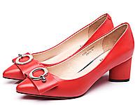金猴皮鞋2020新款尖头春夏粗跟浅口鞋