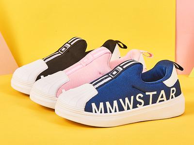 木木屋兒童板鞋2020新款貝殼頭小白鞋