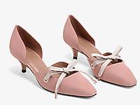 CHARLES&KEITH春夏单鞋女士浅口中跟奥赛鞋