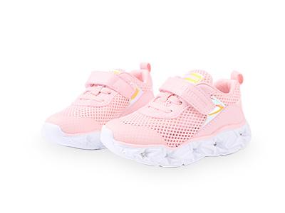 斯乃納女童鞋2020春新品亮燈運動鞋