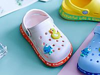 卡巴奇�和�洞洞鞋夏中小童拖鞋防滑