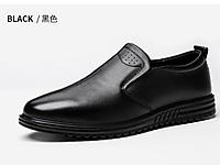 老鞋匠商务休闲皮鞋防滑爸爸鞋