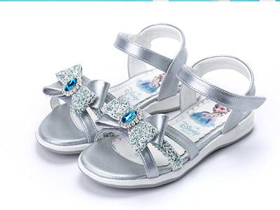 富罗迷女童凉鞋2020春款夏季冰雪爱莎公主鞋