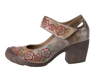 相伴女鞋2020新款真皮春季女玛丽珍粗跟鞋