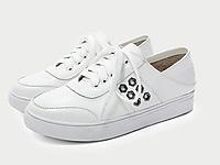 �W�_巴女鞋2020春季新款百搭真皮小白鞋