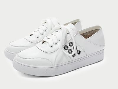 歐羅巴女鞋2020春季新款百搭真皮小白鞋