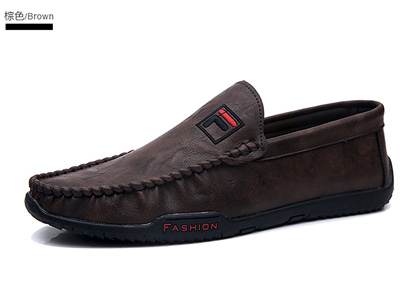 公牛巨人豆豆鞋2020新款男士韩版休闲皮鞋