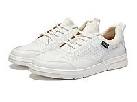 沙驰新款男鞋白色百搭休闲皮鞋