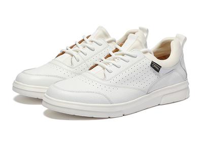 沙馳新款男鞋白色百搭休閑皮鞋