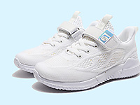 卡丁童鞋-学生小白鞋夏季新款儿童飞织网鞋