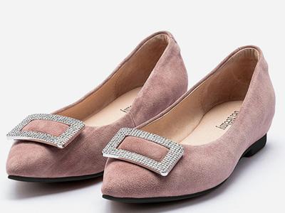 贝妃尼平底鞋2020新款平跟尖头内增高