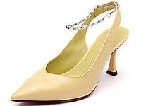 Hongkee红科凉鞋女高跟尖头后空夏季女鞋