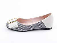 仙妮特低跟平底方头浅口时尚休闲单鞋