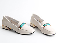 仙妮特方头低跟休闲舒适懒人鞋