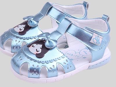 哈比特童鞋夏季新品女童包头鞋凉鞋