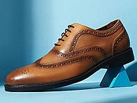迪迈奇男式布洛克皮鞋英伦鞋