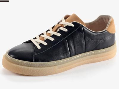 �R��杜克2020新款春季撞色英��真皮小白鞋